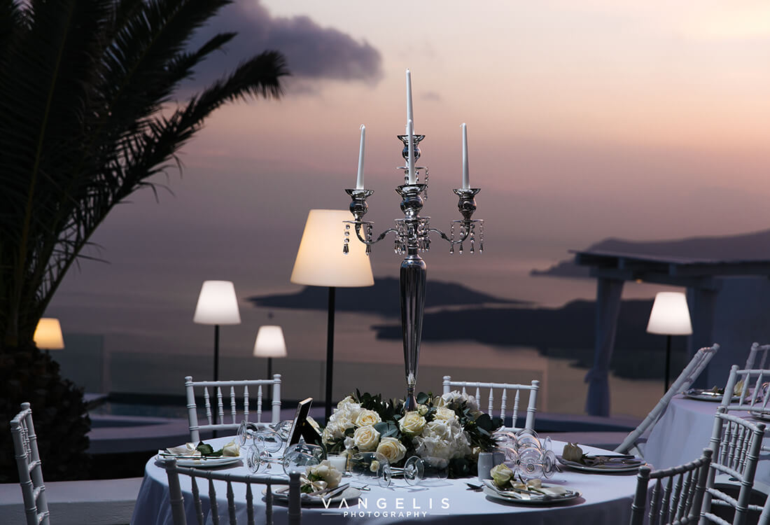 Happiness on Film - Caldera Dinner - Santorini Gem