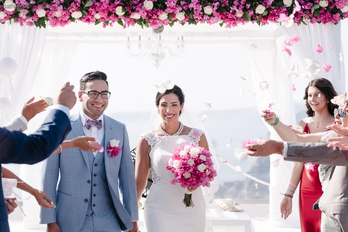 Caldera Ceremony - Wedding Terrace - Santorini Gem