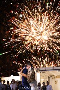 The wedding ceremony and reception - Reception - Santorini Gem