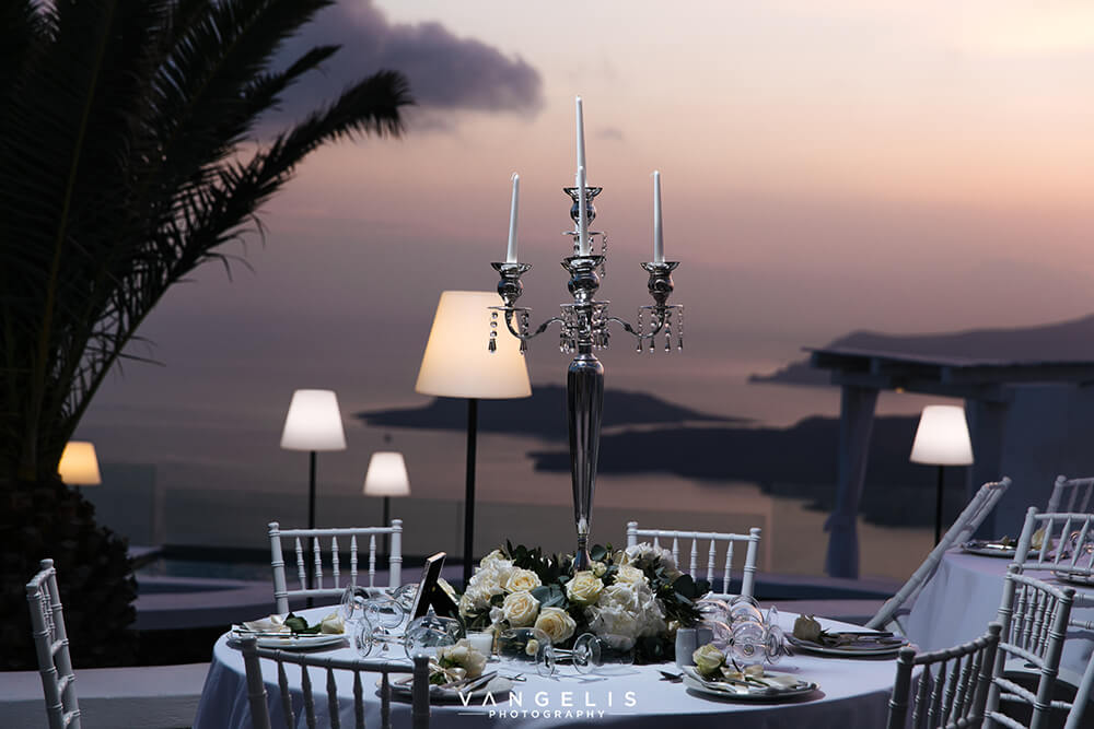 The Wedding Ceremony and Reception - Private Dinner - Santorini Gem
