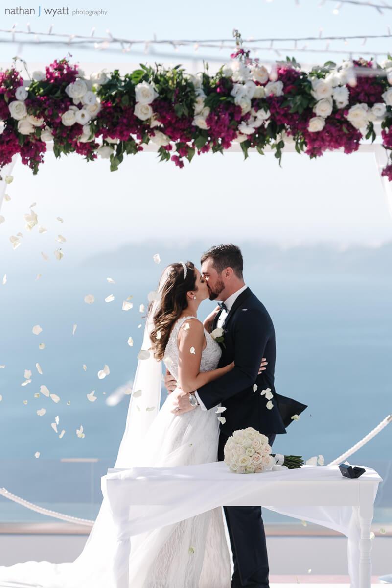 Ceremony and Reception - Caldera Wedding - Santorini Gem