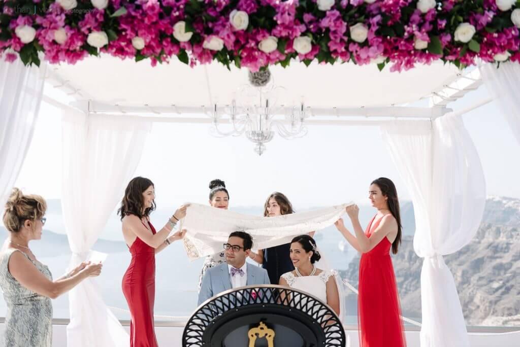 Terrace Ceremony - Wedding Villa in Caldera - Santorini Gem