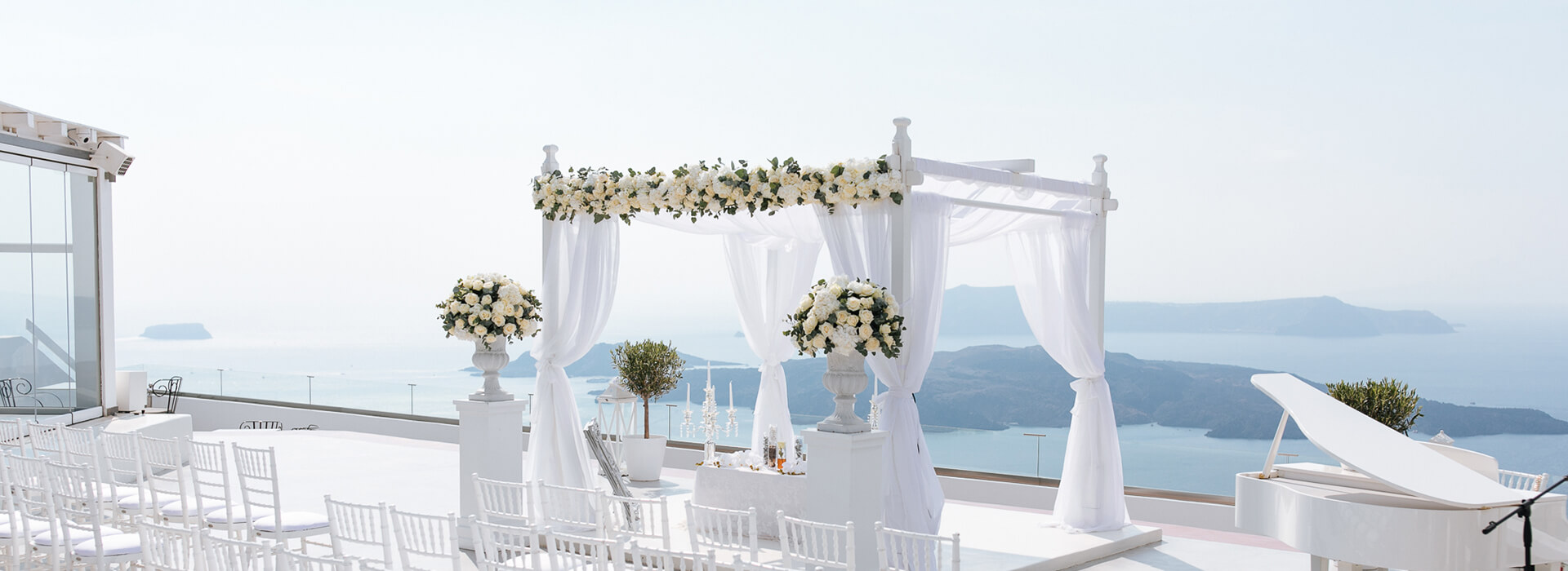 Reception Terrace - Wedding Reception- Santorini Gem