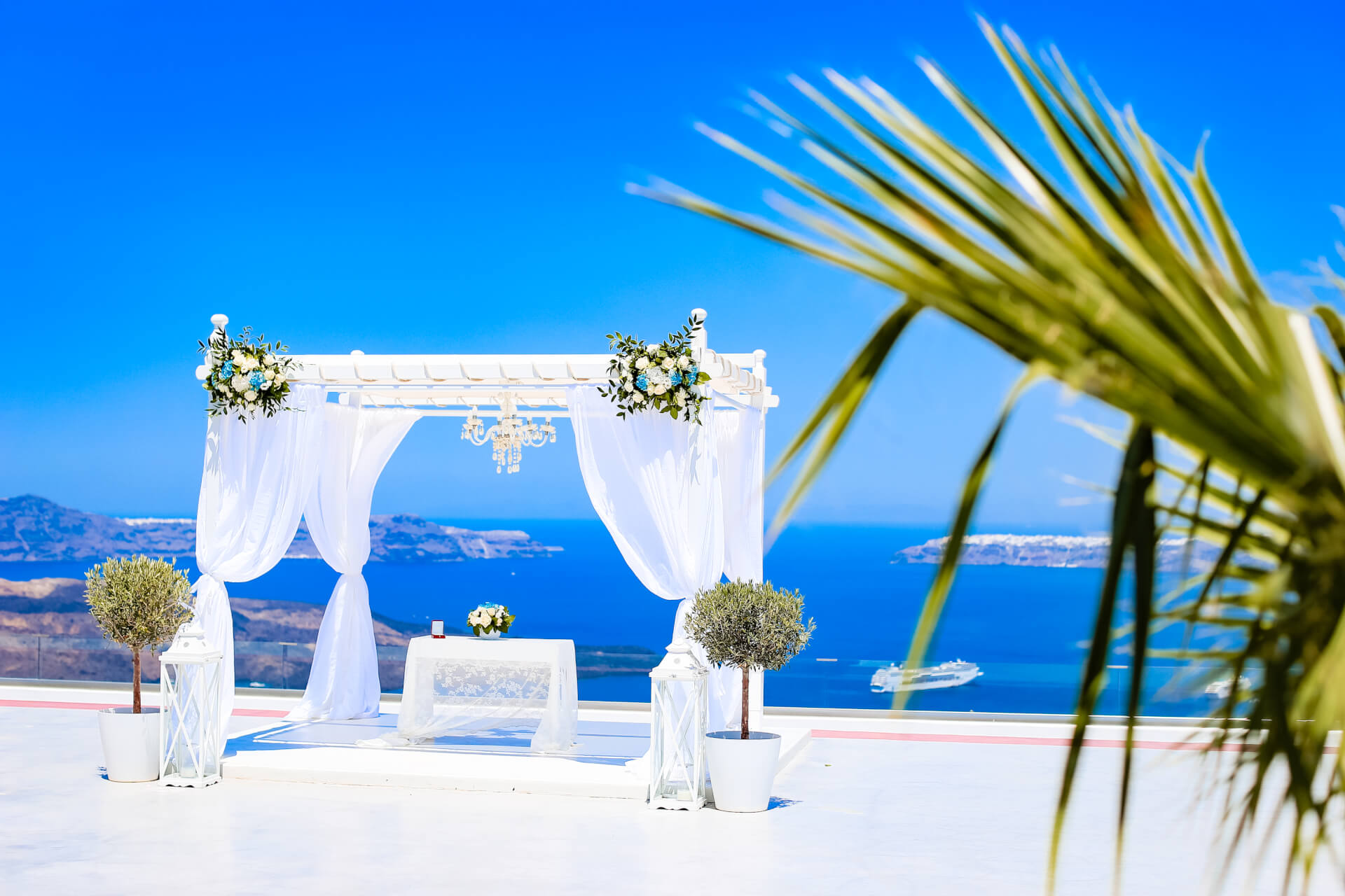 Terrace - Wedding in Caldera - Santorini Gem