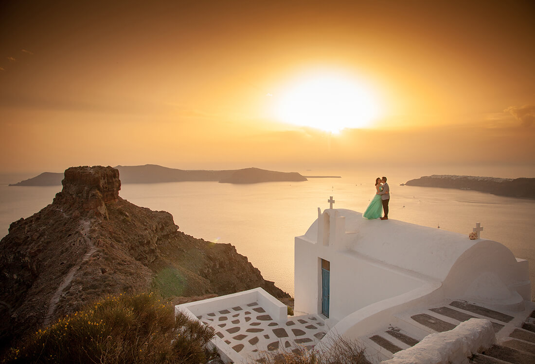 Happiness on Film - Santorini Wedding - Caldera View - Santorini Gem