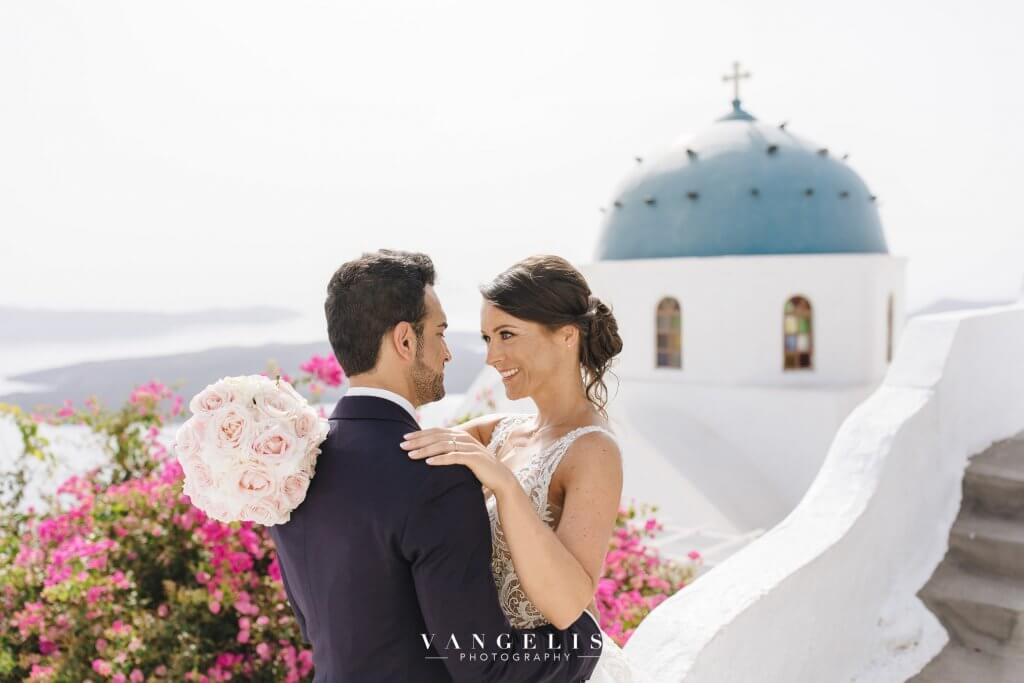 Santorini Wedding - Blue Domes Photoshoot - Santorini Gem
