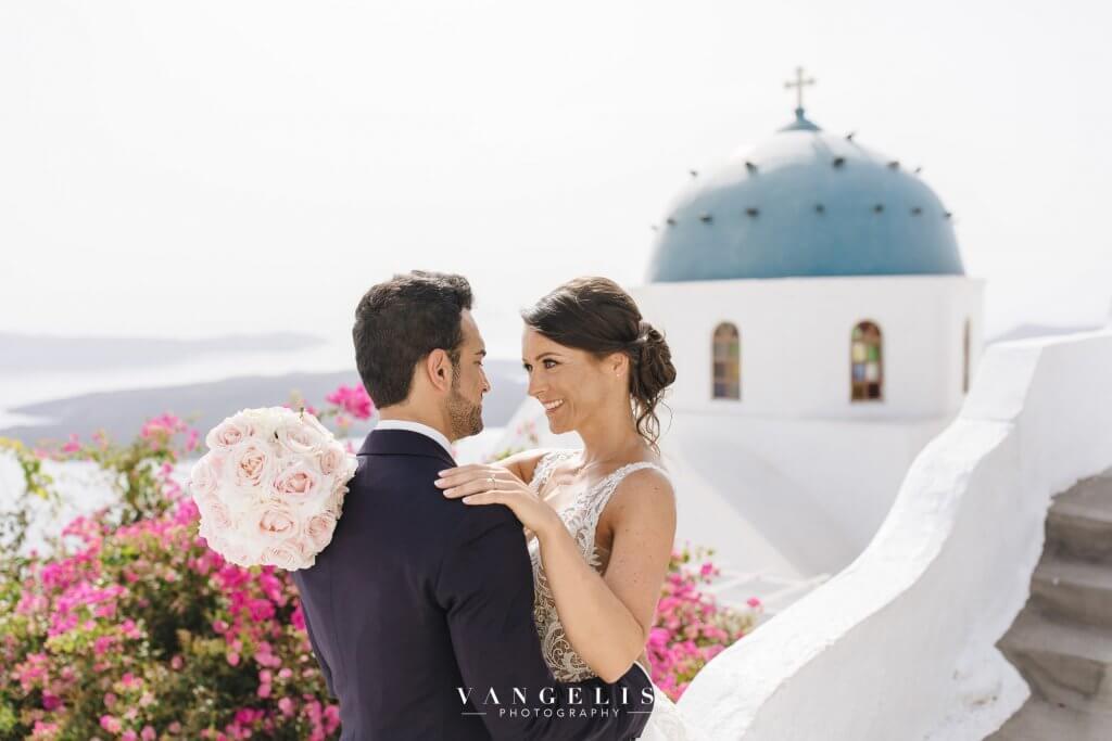 Santorini Wedding - Blue Domes Photoshoot - Santorini Gem