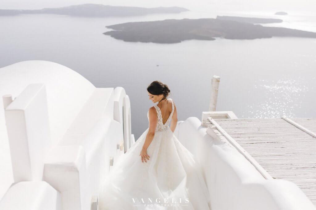 Santorini Wedding - Real Bride - Santorini Gem