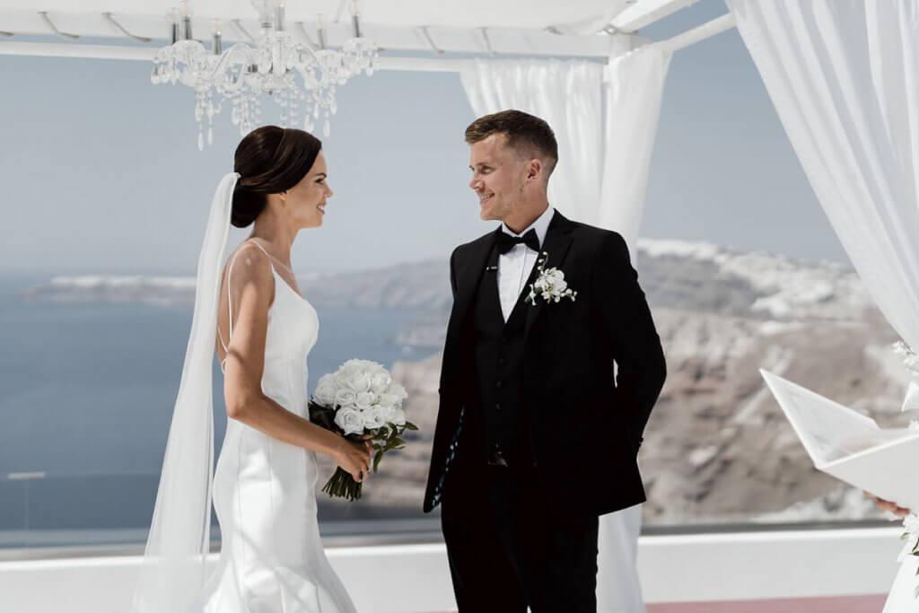 Santorini Wedding - Real Couple - Santorini Gem