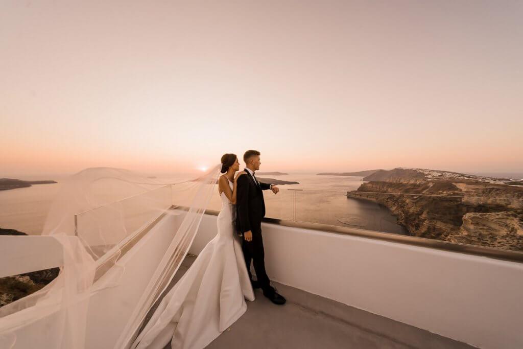 Santorini Wedding - Terrace View - Santorini Gem