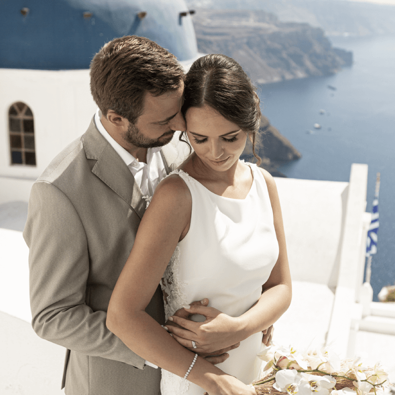 Santorini Dream Wedding - Planning Services- Santorini Gem